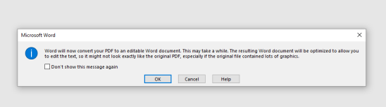 Converting to Word 2